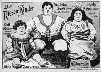 Werbeplakat - Die Riesenkinder