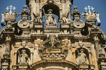 Aeusseres der Kathedrale von Santiago de Compostela - Camino de Santiago
