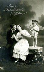 Paar mit Amor  1920