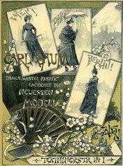 Modereklame  Muenchen  1891