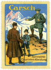 Touristenkleidung  Werbung  1912