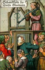 Strafe fuer schlechten Musikanten  um 1600