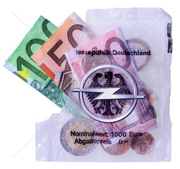 Symbol Opel  Opel-Hilfe  Opel-Rettung  Staatsbuergschaft