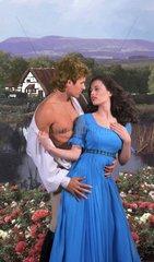 Englische Landschaft liebendes Paar