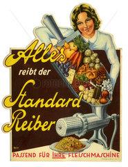 Werbung fuer Gemuesereibe  1935