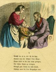 Kind wird fuer gute Schulnoten gelobt  1867