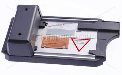 Kreditkarten-Imprinter