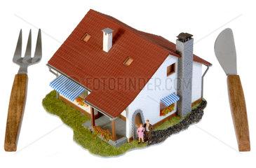 Symbolfoto Zwangsversteigeung  Haus