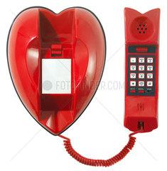 Telefon in Herzform
