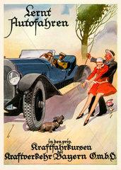 Fahrschulwerbung  1928