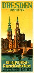 Reiseprospekt Dresden  1932