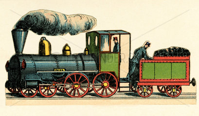 Dampflokomotive  um 1870