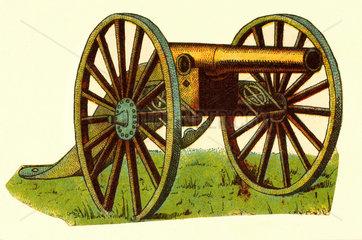 Kanone  Illustration  um 1878