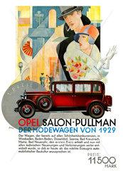 Opel Autowerbung  1928