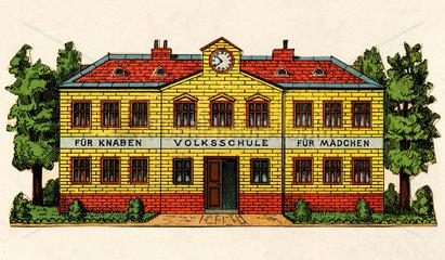 Volksschule  Illustration  um 1875
