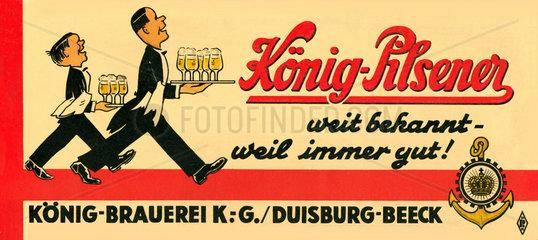 Werbung fuer Koenig Pilsener  1948