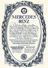 Fusion der Firmen Daimler und Benz zur Daimler Benz AG  1925/26