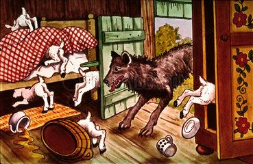 Der Wolf und die 7 Geisslein  um 1950