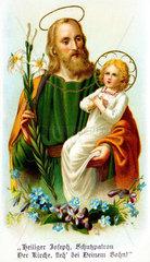 Heiliger Josef  Jesuskind  um 1900