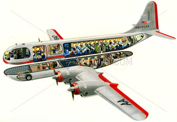 Boeing B 377  Passagierflugzeug  1948