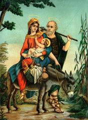 Heilige Familie  Flucht nach Aegypten  um 1880