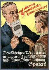 Werbung fuer Sparbuch der Deutschen Bank  um 1932