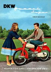 Teenager mit Moped  DKW Werbung  1958