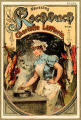 Kochbuch  Frau am Herd  um 1896