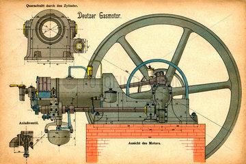 Deutzer Gasmotor  um 1907