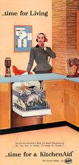 Werbung fuer Geschirrspueler  1957