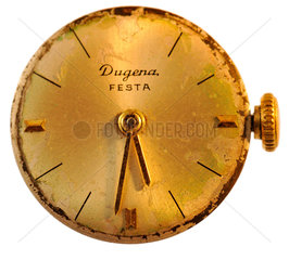 alte defekte Damenuhr von Dugena  1959