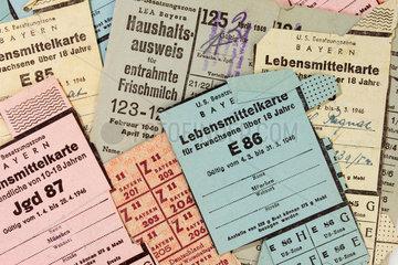 Lebensmittelkarten der U.S. Besatzungszone Bayern 1945-49