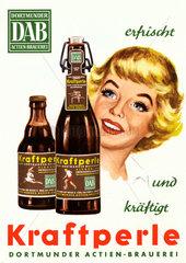 Werbung fuer DAB Malzbier  um 1958