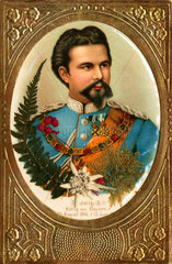 Koenig Ludwig II.  Prachtkarte  um 1900