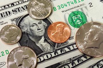 US Geld  Dollar  Cent