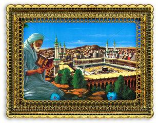 islamisches Wandbild  Kaaba in Mekka