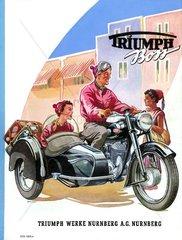 Motorrad mit Beiwagen 1953