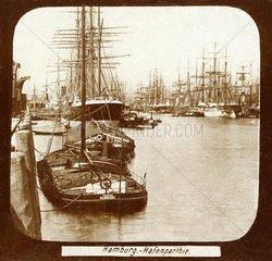 Hamburger Hafen um 1890