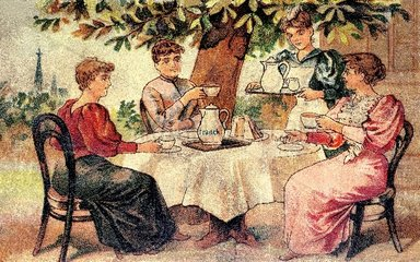Kaffeetrinken um 1890