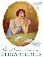 Werbung fuer Hautcreme  um 1929