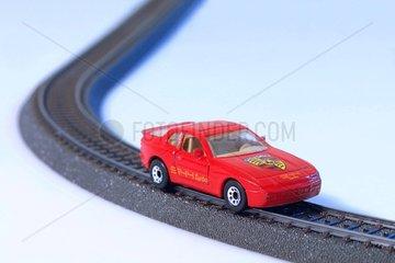 Auto auf Schienen