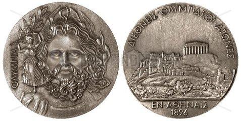 erste olympische Medaille Athen 1896