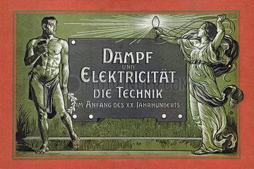 Dampf und Elektrizitaet  Buchtitel  1901