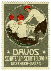 Davos  Schatzalp  Werbemarke  1913