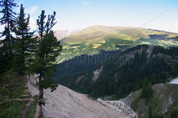 Erosion an ein Berghang