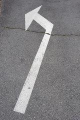 Direction arrow on pavement