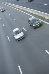 Cars drving on freeway
