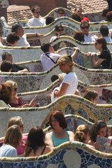 Barcelona (Spain) - Park Guell by Antoni Gaudi