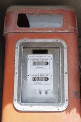 Old-fashioned gas pump