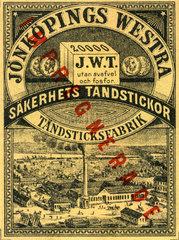 Streichholzfabrik  Schweden  1895